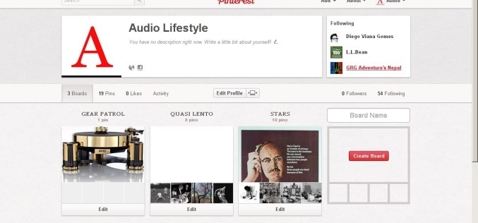 AUDIO LIFESTYLE & PINTEREST