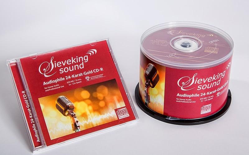 SIEVEKING SOUND AUDIOPHILE 24-KARAT GOLD CD-R
