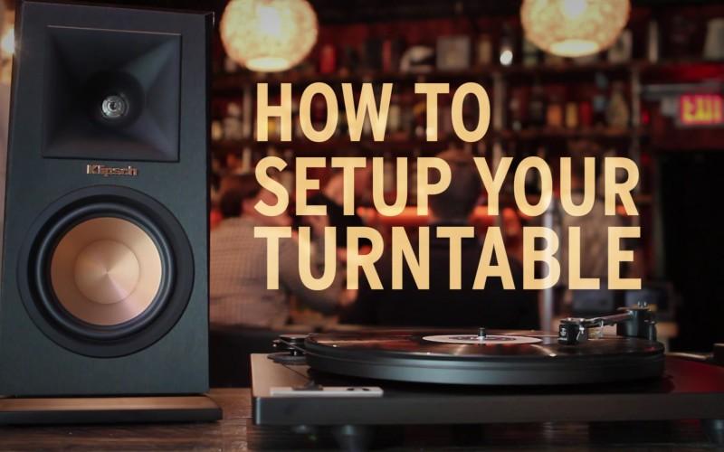 HOW TO SETUP TURNTABLE